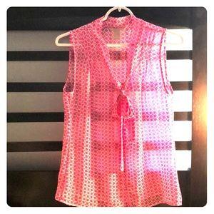 Banana Republic pink sleeveless blouse